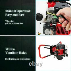Post Hole Digger Gas Powered Earth Auger Borer Machine 52CC / 3 Auger Drill Bits