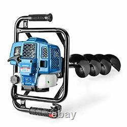 Powerful Post Hole Digger 52CC Earth Auger Gas Powered Garden Auger 2 Stroke Gas