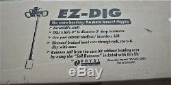 Royal Ez-Dig 250 Power Auger Post 3 Hole Digger Sand Attachable Drill Tool NEW