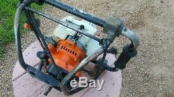 Stihl Earth Ice Dirt Planting Post Hole Power Auger BT130 Running See Video