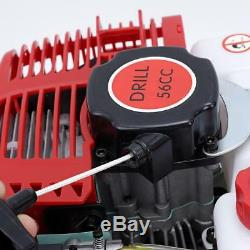 Sweetvally Hand-Held Post Hole Digger 56CC Power Engine 2 Stroke Air Coole Swe
