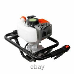 V0 52cc Gas Power Earth Auger Post Fence Hole Digger Petrol Borer Ground Drill