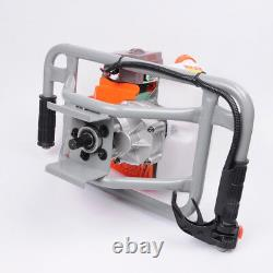 V0 63cc Gas Power Earth Auger Post Fence Hole Digger Ground Borer Drill Machine